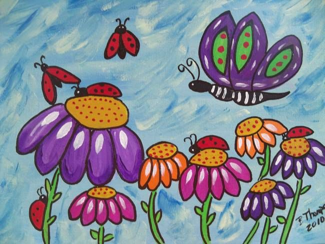 Ladybugs in flight by Barbara Thompson