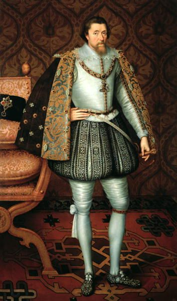 King James VI of Scotland (1566-1625) became King of England, first of the Stuart dynasty, after the death of Elizabeth I. He brought a new, more autocratic, style of government and was a believer in the Divine Right of Kings - the idea that monarchs were answerable only to God. These ideas were inherited by his son, Charles I, and put the monarchy on a collision course with the English Parliament.