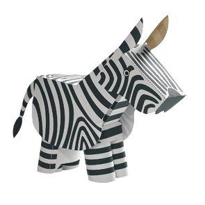 Zebra and tons more animals - Toys - Paper Craft - Canon CREATIVE PARK