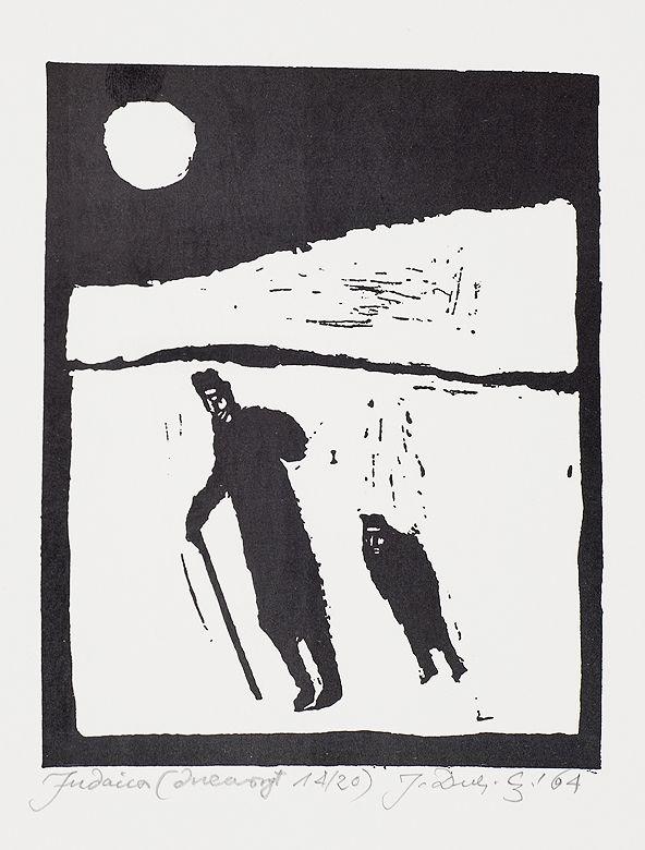 Jerzy Duda Gracz | Z CYKLU JUDAICA, 1964 | drzeworyt, papier | 13.3 x 10.7 cm