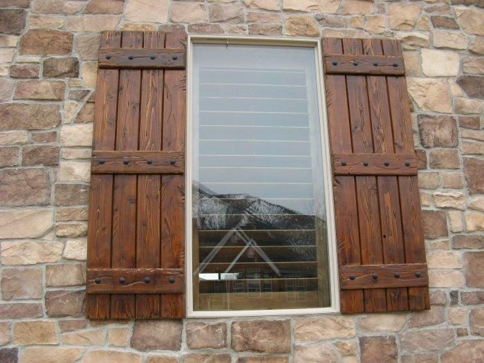Rustic Shutters Custom Exterior Designs Building A Home In 2018 Wood