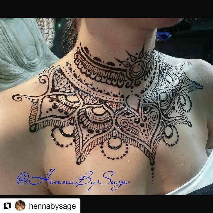 #follow@hennafamily #hennafamily #Repost @hennabysage  Stillshot from today's #jagua neckpeice. Perfect attire for the #totaleclipse on Monday! . . . . .  #hennabysage #atlantahennaartist #allnaturaljagua #hennaallthepeople #naturalhenna #mehndi #atlantahennaparty #bodyart #atlanta #jaguahand #jaguaatlanta #hennalove #mehendi  #mehndiartist #hennadesign #hennalovers #temporarytattoos #hennatattoo #safebodyart #mehndidesign #safehenna #hennapro #jaguapics #sunmoonhenna #jaguacollar