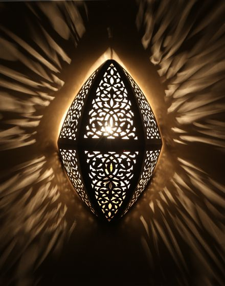 Silver Moroccan Wall Light