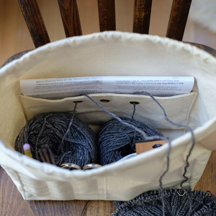 Image of Fringe Supply Project Bag -- the grommets in the large pocket are pretty brilliant.