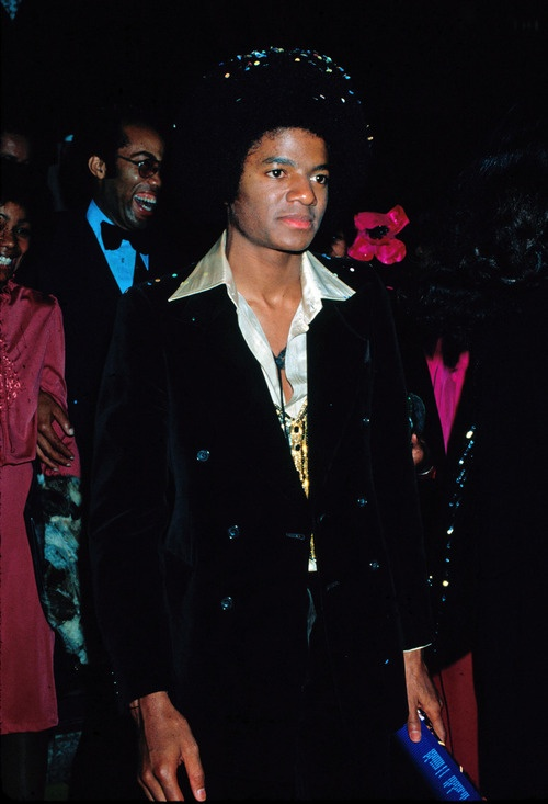 Michael Jackson, The Wiz premiere party, 1978. Confetti in the fro...