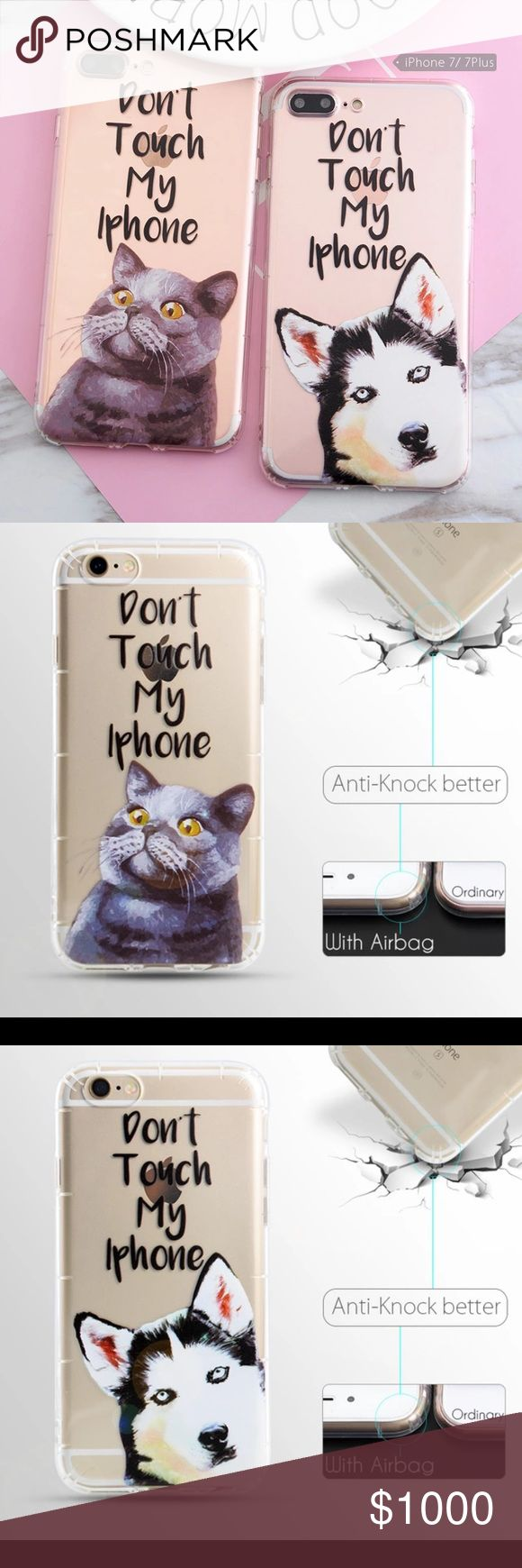 COMING SOON💕BNWT Don't Touch My Phone IPhone Case This adorable soft silicone iPhone 7 case is perfect for anyone who loves their phone and hates when other people touch it! Available in your choice of husky or cat🌟PRICE FIRM UNLESS BUNDLED🌟 Made Of Starlight Accessories Phone Cases