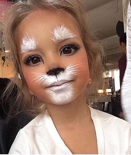 The cutest little girls cat makeup