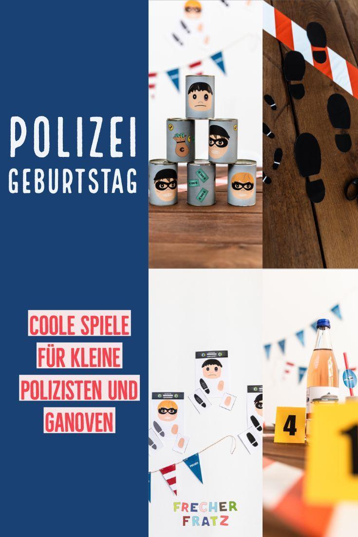 Tolle Spiele Fur Den Besten Polizei Geburtstag Geh Auf Rauber