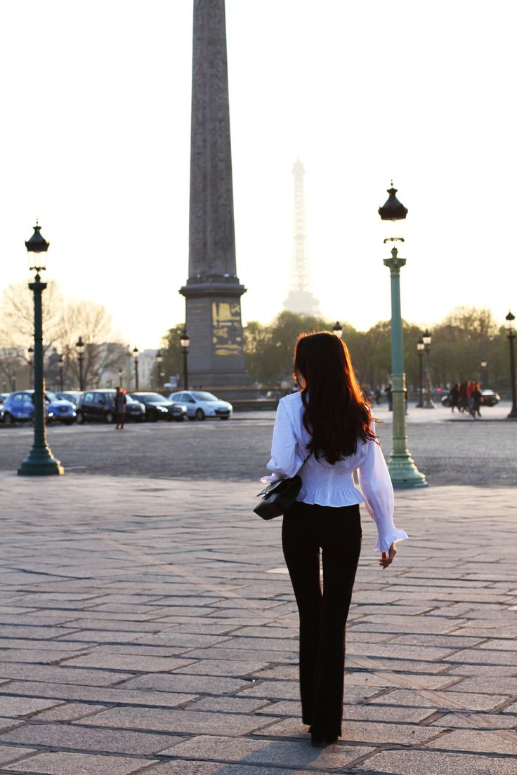 Sunset look in Paris http://mariannelle.com