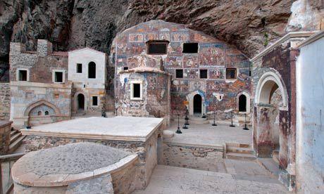 Inside Sumela Monastery. Photograph: Alamy