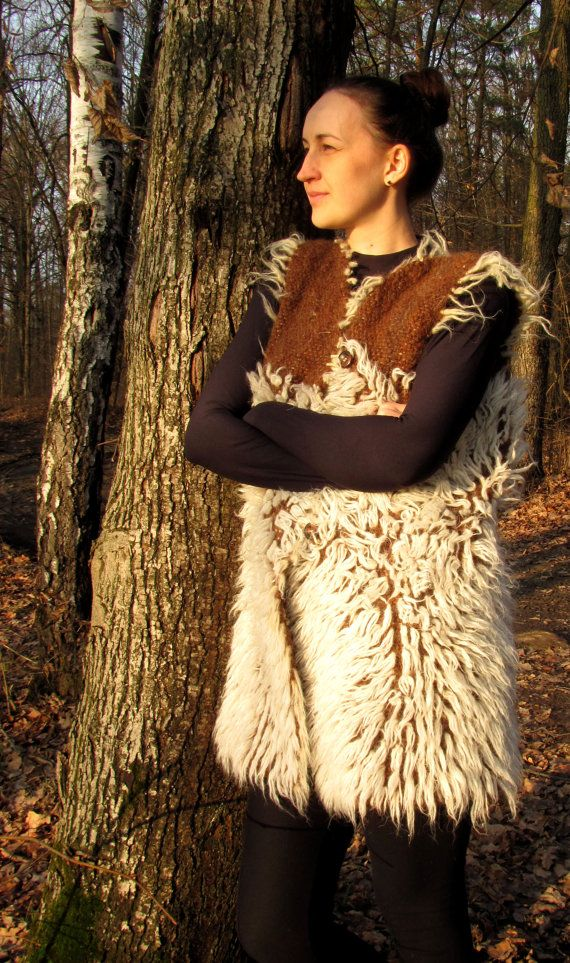 100% Wool Vest. Organic wool!  Unusual, Very warm wool handmade Vest. Suitable for both men and women. Wool not purchase! With home mountain sheep, all made by hand the old way of processing wool. Weaves the product on a wooden loom!  To make organic Wool vest a craftsman uses wool