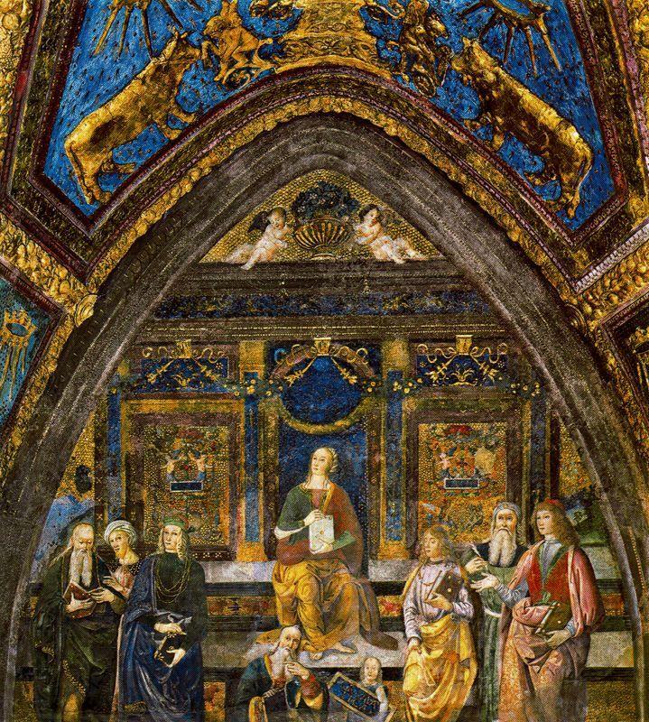 Appartamento Borgia -Grammatica--L'Appartamento Borgia è una serie di sei ambienti monumentali nel Palazzo Apostolico della Città del Vaticano, facenti oggi parte del percorso dei Musei Vaticani in cui è in parte ospitata, dal 1973, la Collezione d'Arte Religiosa Moderna.
