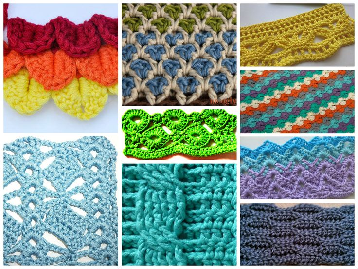 Interesting and Unique Crochet Stitches..... FREE patterns