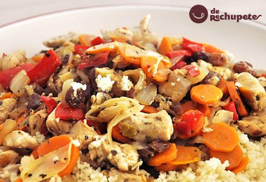 Una receta exótica en España, tradicional y plato estrella en Marruecos, el Couscous (cuscús, cuscus, kuskus o alcuzcuz). Preparación paso a paso y foto.