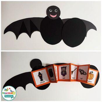 Halloween vocabulary speech therapy activities from teachingtalking.com