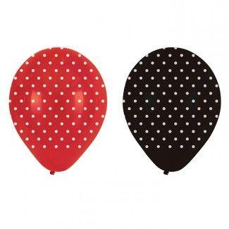 Ladybug Party Supplies, Fancy Ladybug Latex Balloons