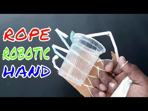 How To Make A Robotic Hand From Cardboard and Glue Gun    ROBOTIC Arm    Great Idea to make Hand - YouTube