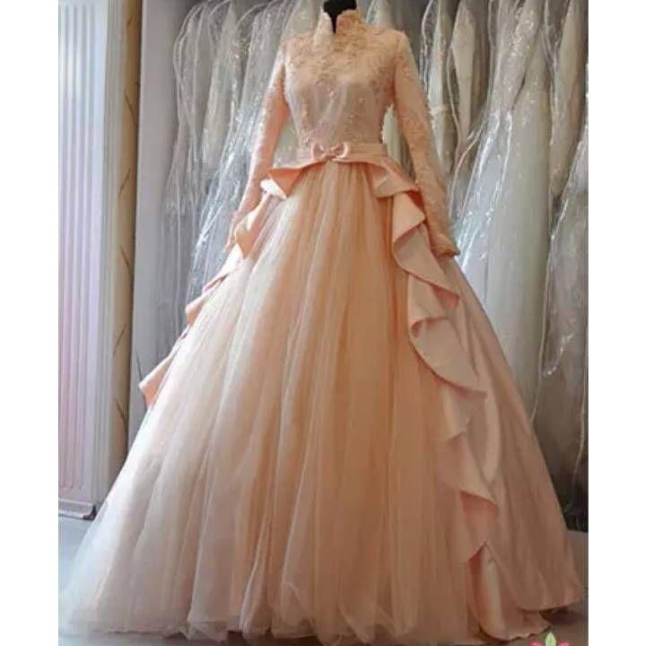 Jual Gaun pengantin muslimah raissya (PO) - Amilia bungabutik | Tokopedia