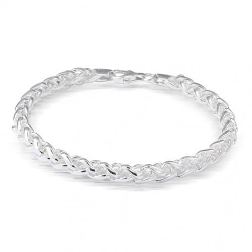 Bali Style 180 Gauge Wheat Chain Bracelet 8.5`