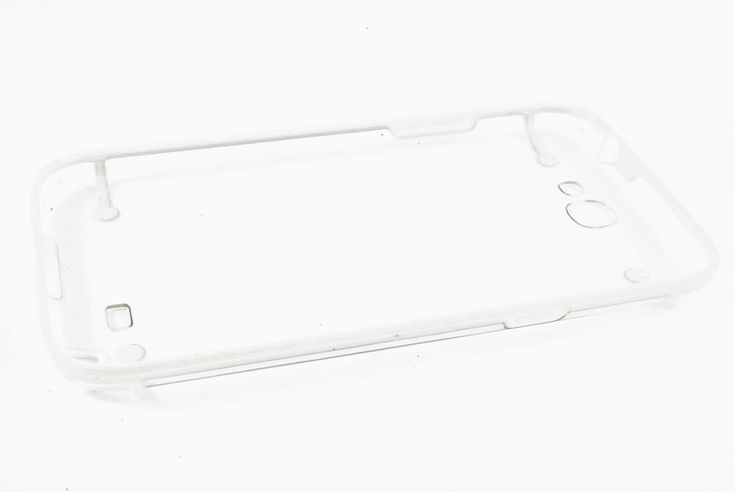 Чехол кейс прозрачная крышка, силиконовая рамка Samsung N7100 Galaxy Note 2 (белый)  Чехол кейс прозрачная крышка, силиконовая рамка Samsung N7100 Galaxy Note 2 (белый)