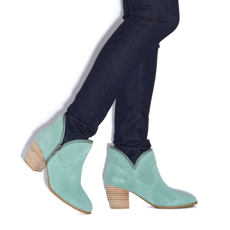 minty suede ankle zips~