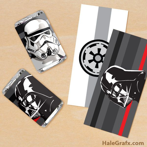 Free Printable Star Wars Empire Mini Candy Bar Wrappers