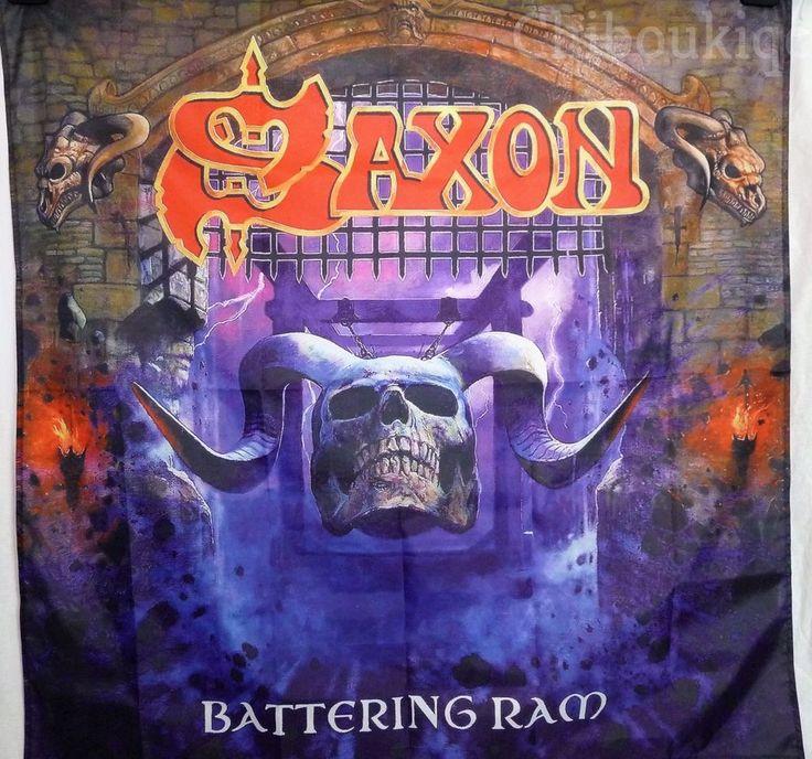 SAXON Battering Ram HUGE 4X4 banner poster tapestry cd album cover art | eBay