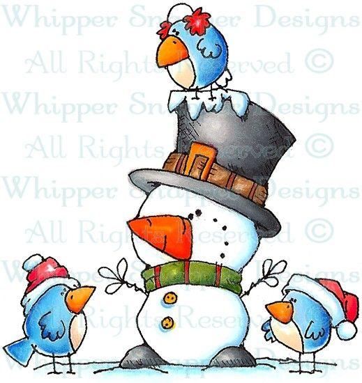 Mini Me's Peeps - Snowmen Images - Snowmen - Rubber Stamps - Shop