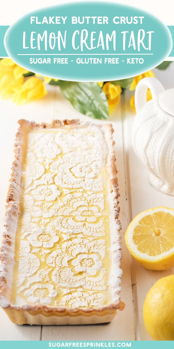 A creamy lemon tart that's low carb, gluten-free, and keto friendly.  This i…
