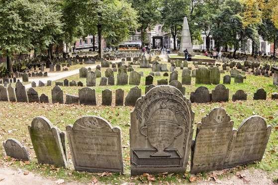 Boston, MADating to 1660 but still only Boston's third-oldest cemetery, the Granary Burying Ground i... - Marcio Jose Bastos Silva/shutterstock