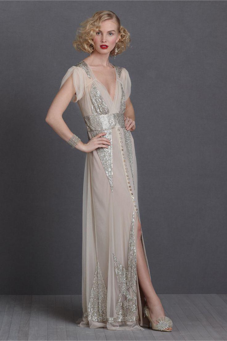 robe de mariée rétro glitter