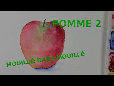 Apprendre L Aquarelle Avec Une Pomme Aquarelle Pour Debutant 9