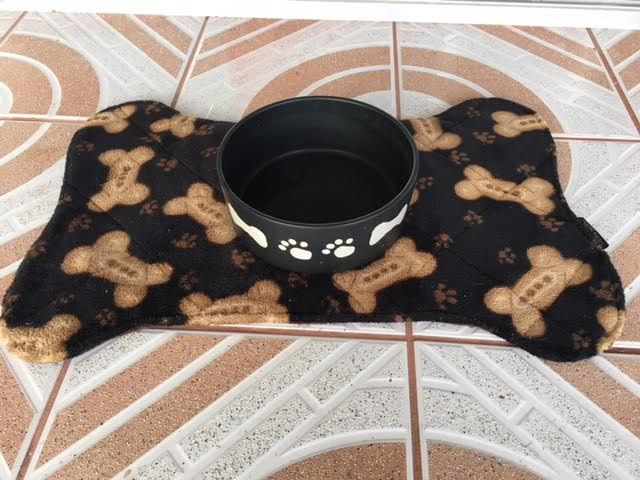 Dog Mat, Bowl Mat, Feeding Station, Pet Mat, Dog Placemats, Pet Supplies, Pet Feeding, Placemats by IsidoraDesigns on Etsy