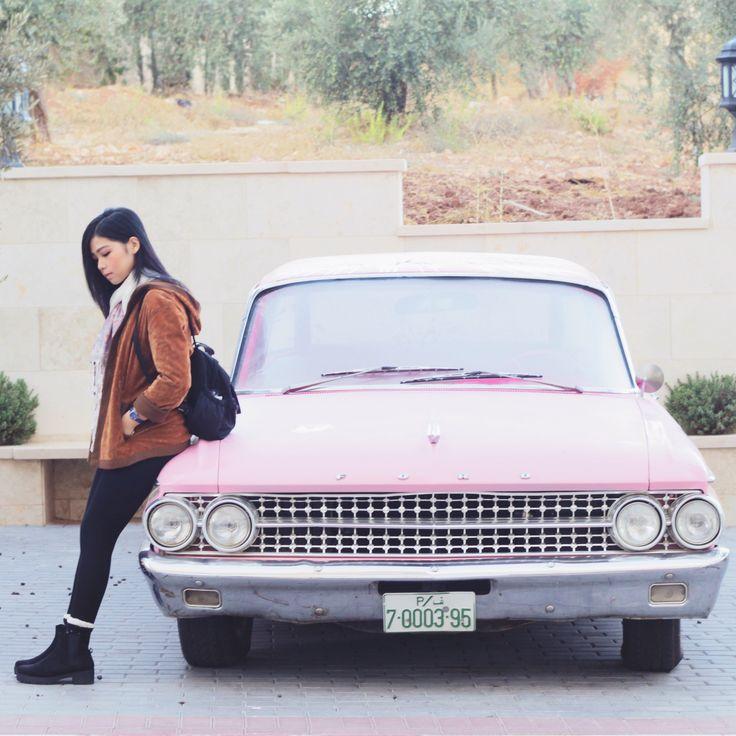 Pinky car! Too cute