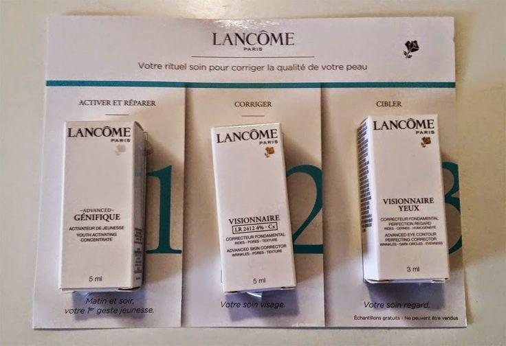 Échantillons GRATUITS de soins Lancôme