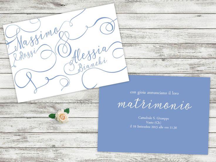 wedding invitations,partecipazioni matrimonio,lettering wedding invites, nome sposi, boda, wedding invites, mariage, Hochzeit, low cost by graficious on Etsy