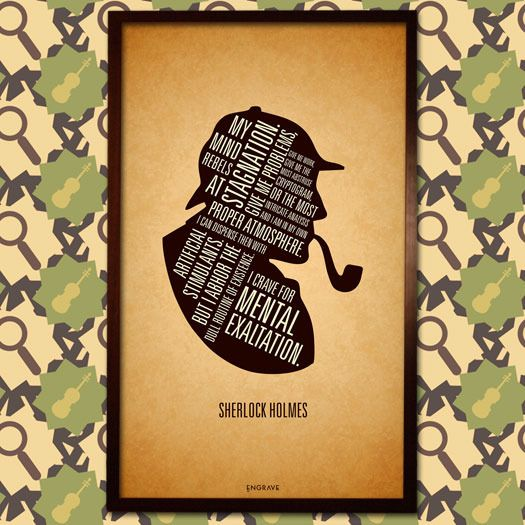 Handcrafted in india. This is a collection art and objects inspired by Sherlock Holmes. Some of it is created by us and available here http://engrave.in/products/sherlock-holmes-canvas.