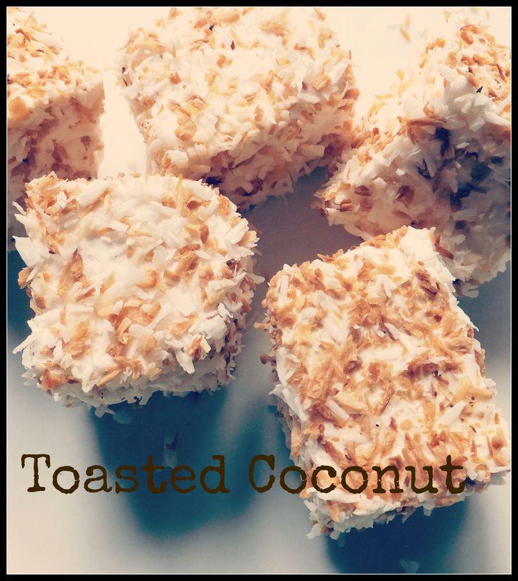 toasted coconut marshmallows, handmade in ireland by mallow mia