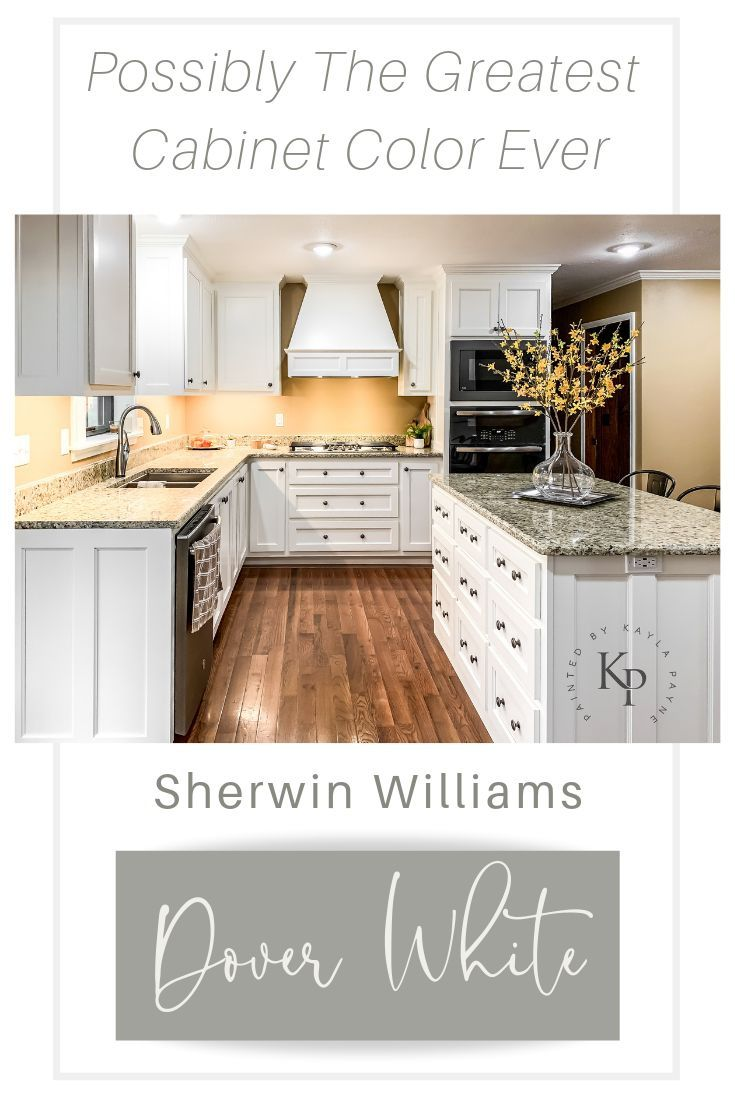 Kitchen Cabinets in Sherwin Williams Dover White   Painted by ...