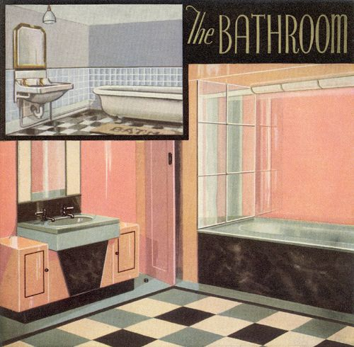 1000 id es sur le th me 1930s bathroom sur pinterest art for Salle de bain 1930