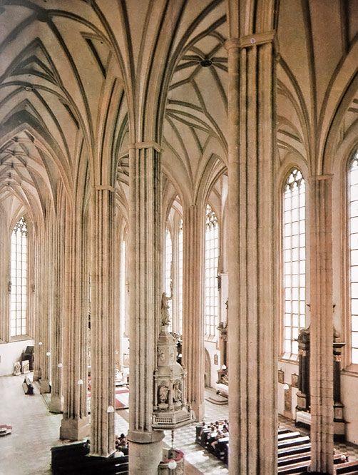 Interior of St.James church in Brno, Czechia #city #brno #czechia #cathedral