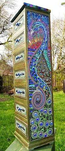 Mosaic Peacock Chest of Draws by Nikki Ella Whitlock| Flickr - Photo Sharing!