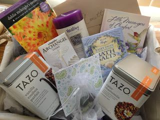 Grieving basket - ideas for gifts that help the spirit and soul for someone during a sorrowful time. The Delicate Sunflower Blog.