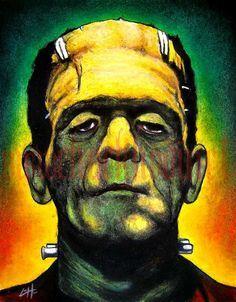 """The Bride of Frankenstein Pop Art Print - 11""""x14"""" Halloween Poster ..."""