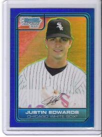 Justin Edwards 2006 Bowman Chrome Draft Picks Blue Refractor #197/199  -  Free Shipping