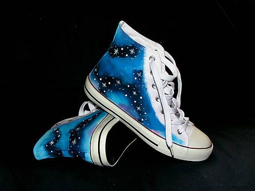 emulikart / hand painted woman girls shoes Galaxy