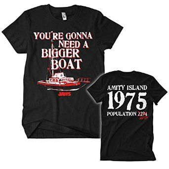 Officially Licensed Merchandise Jaws - Bigger Boat! (Black): Amazon.co.uk: Clothing