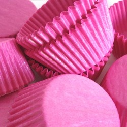 hot pink cupcake cups