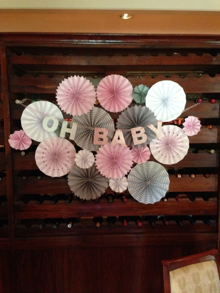 fan backdrop for nelly 39 s baby shower party party pinterest