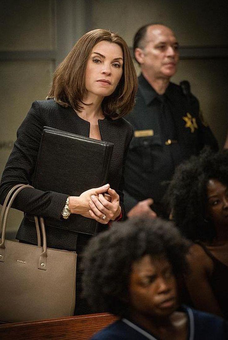 Alicia Florrick's Beige Furla Linda Large Tote Bag from The Good Wife - Season 7 Episode 1   TheTake